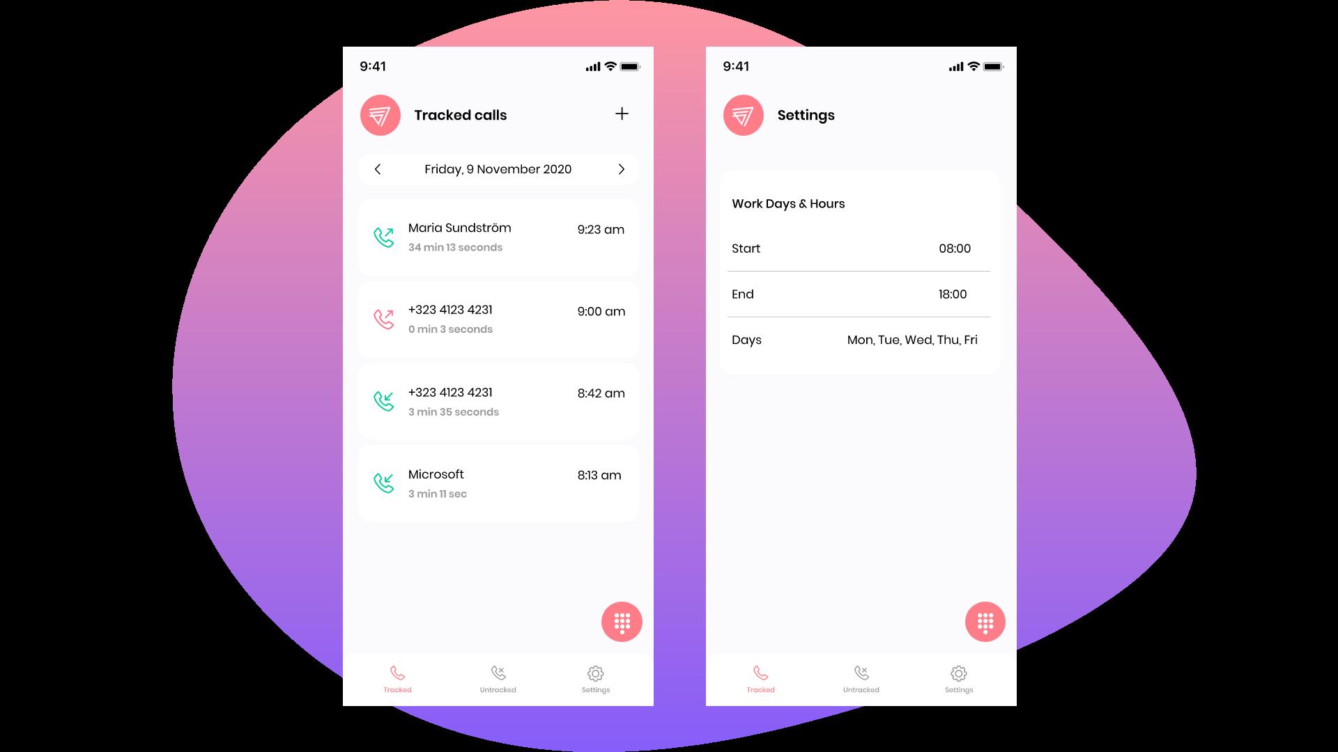 Mobile b2b application