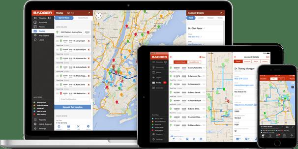 badger maps sales enablement software