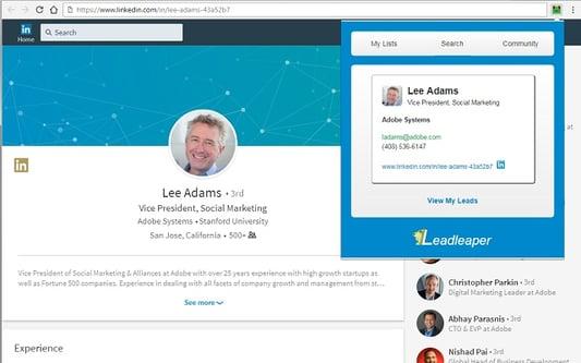 leadleaper sales enablement software