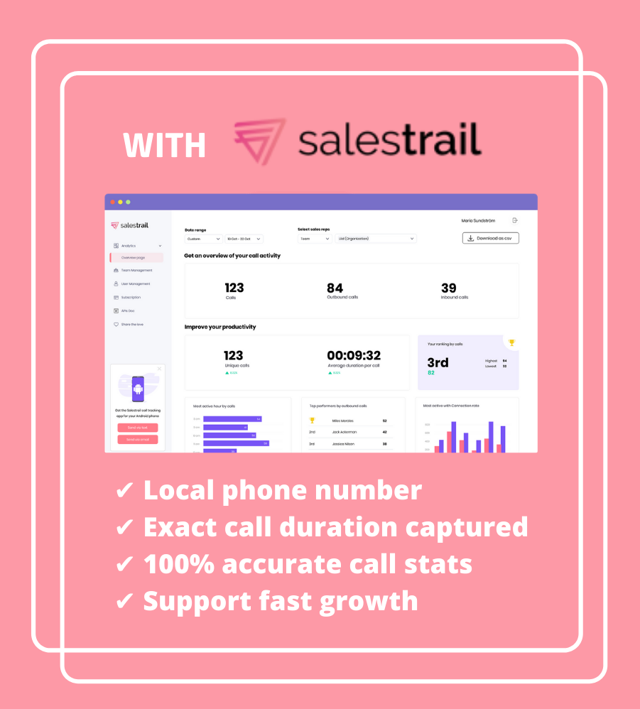 _It's not another tool that salespeople have to use. Even in a difficult time, a solution like Salestrail is critical to sales teams to keep track and stay focused._ 1